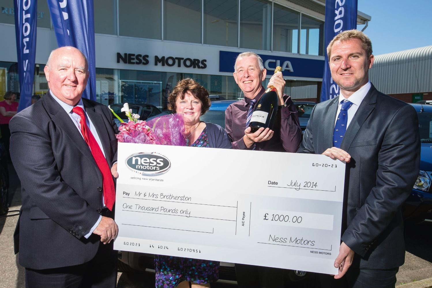 Ness Motors sell their 1000th Dacia - A Sandero Stepway