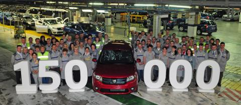 150000 Dacia Sanderos have now been manufactured