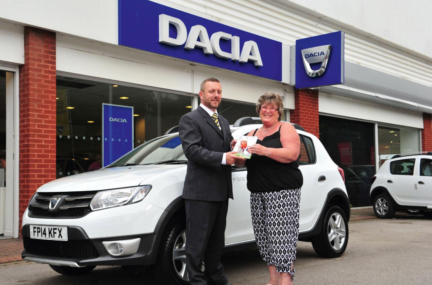 Alison Beirne collects her new Stepway