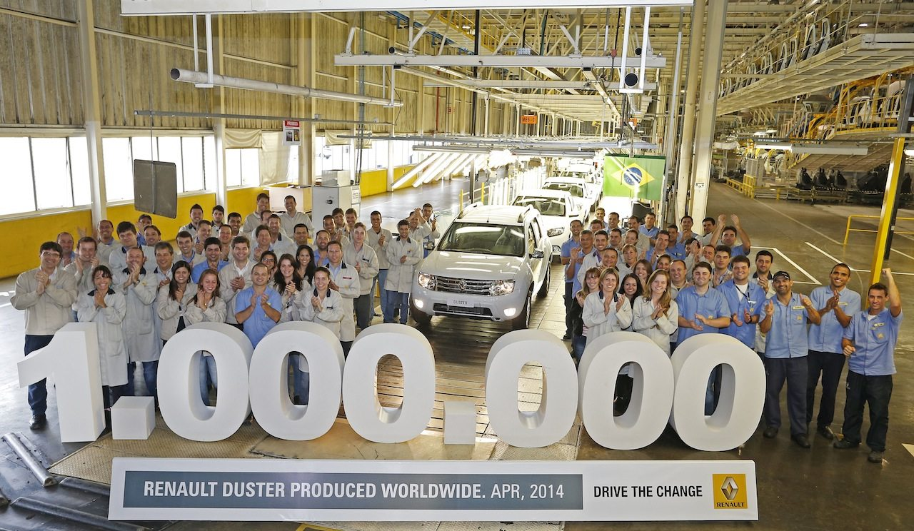 The 1,000,000 Duster rolls off the production line